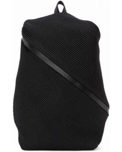 Czarny plecak skórzany Pleats Please Issey Miyake