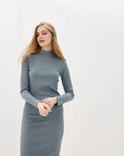 Прямое зеленое платье Sela