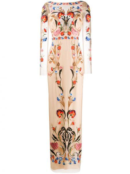 Платье макси с вышивкой с цветочным принтом Temperley London