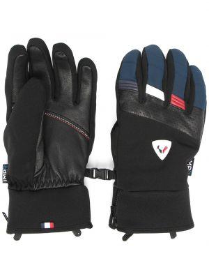 Czarne rękawiczki skorzane Rossignol