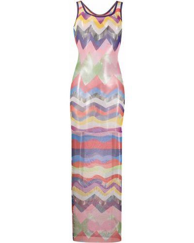 Пляжное розовое платье без рукавов Missoni Mare
