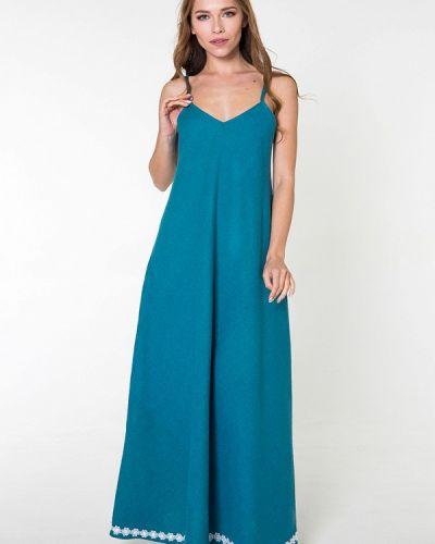 Повседневное платье платье-сарафан бирюзовый Bernetta