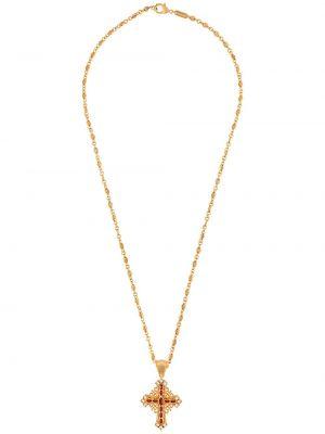 Ażurowy żółty złoty naszyjnik Dolce And Gabbana