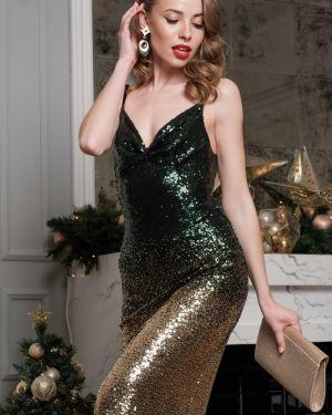 Платье с пайетками с V-образным вырезом Leleya