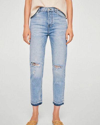 Голубые джинсы-скинни Mango