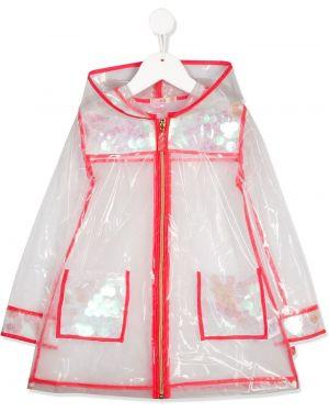 Biała kurtka z haftem z długimi rękawami Billieblush