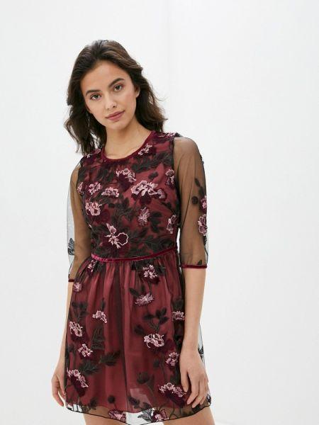 Вечернее платье красный весеннее Blugirl Folies