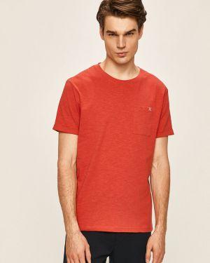 Czerwony t-shirt bawełniany Clean Cut Copenhagen
