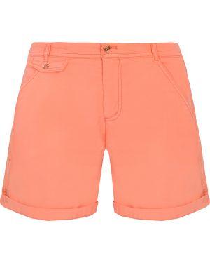 Шорты с карманами - оранжевые Hugo Boss
