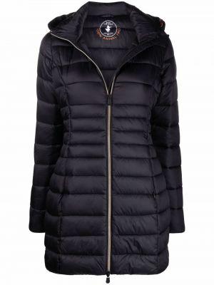 Черное длинное пальто Save The Duck