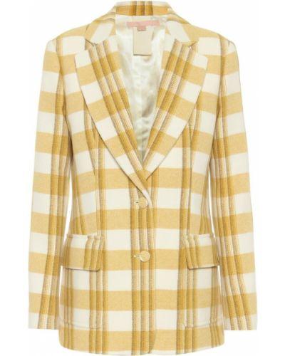 Шерстяной белый пиджак Brock Collection