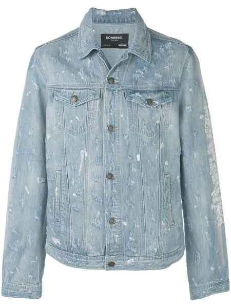 Niebieskie jeansy bawełniane Domrebel