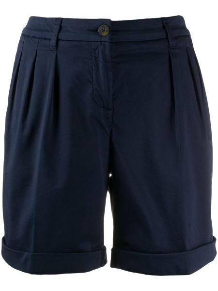 Темно-синие короткие шорты с карманами Fay