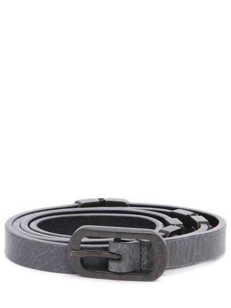 Серый тонкий ремень металлический с пряжкой узкого кроя Balenciaga