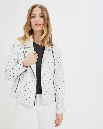 Кожаная куртка - белая Oakwood