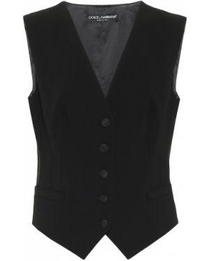 Жилетка костюмная шерстяная Dolce & Gabbana