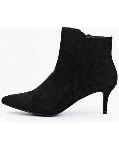 Черные ботинки с острым носом Ideal Shoes®