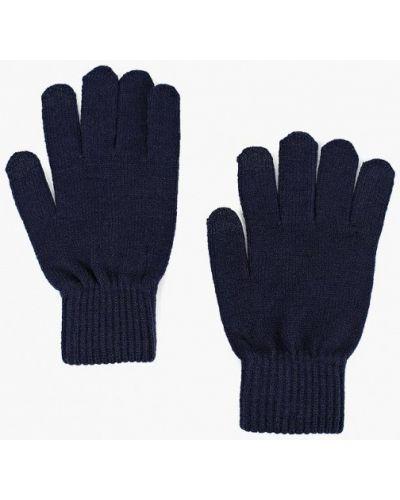Синие перчатки текстильные Gap