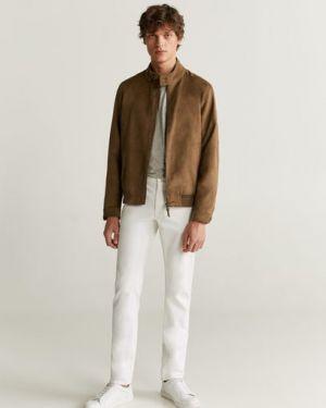 Куртка байкерская с манжетами на пуговицах с карманами Mango