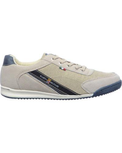 Кожаные кроссовки - бежевые Marina Militare