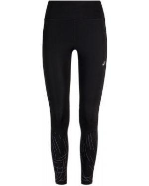 Спортивные облегающие черные спортивные брюки для бега Asics