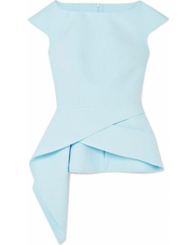 Niebieski top asymetryczny Safiyaa