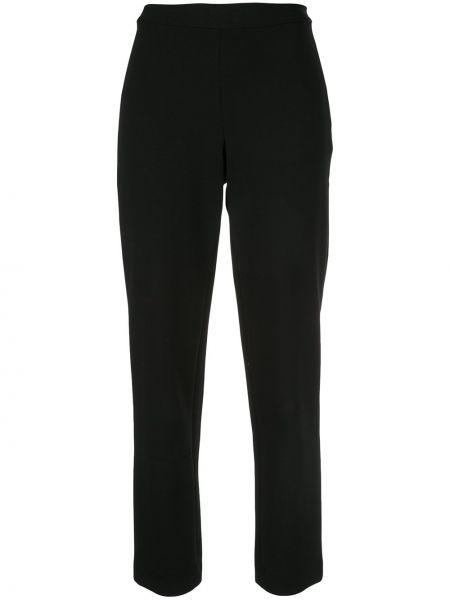 Черные укороченные брюки с поясом Josie Natori