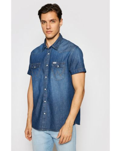 Koszula jeansowa - granatowa Wrangler