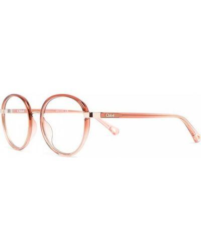 Pomarańczowe okulary Chloe