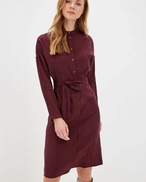 Платье бордовый платье-рубашка Sela