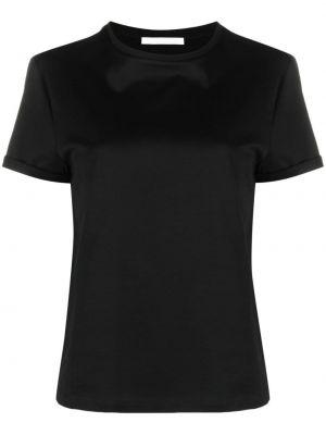 Хлопковая прямая черная футболка Boss Hugo Boss