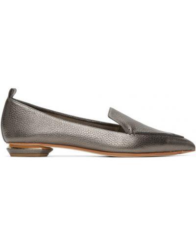 Тапочки на каблуке кожаные Nicholas Kirkwood