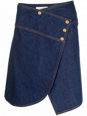Niebieska spódnica bawełniana Christian Dior