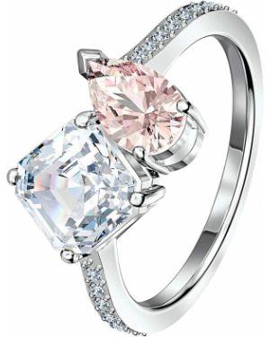 Кольцо металлический розовый Swarovski