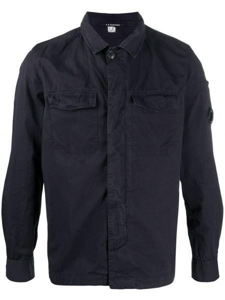Koszula z długim rękawem prosto czarna C.p. Company
