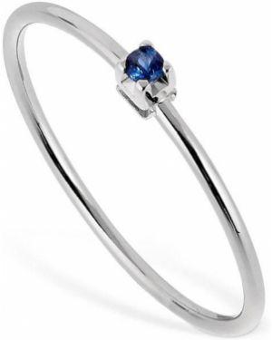 Biały złoty pierścionek szafir Vanzi