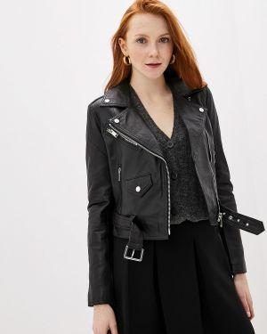 Кожаная куртка черная осенняя La Reine Blanche