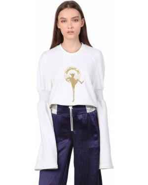 Bluza bawełniana rozkloszowana Simongao