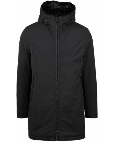 Czarny płaszcz Herno