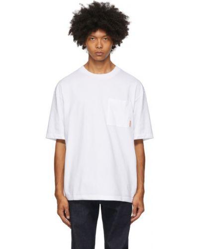 Bawełna skrzynia koszula z logo na trądzik Acne Studios
