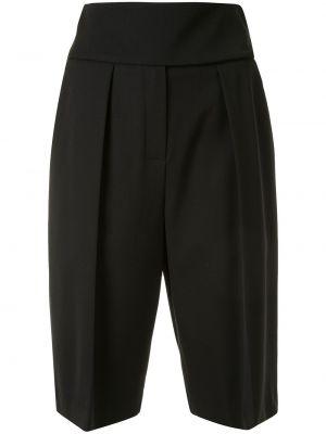 Черные с завышенной талией шорты с карманами Alexandre Vauthier