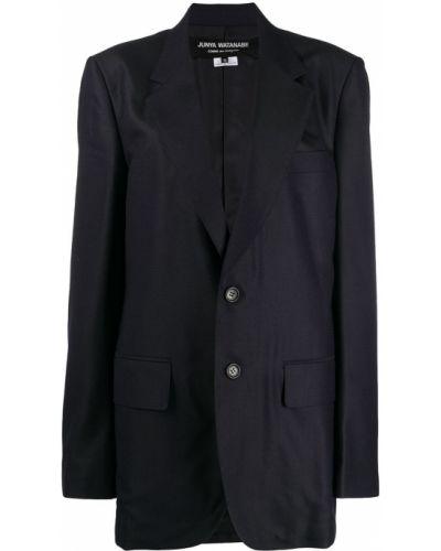 Синий удлиненный пиджак оверсайз с карманами Junya Watanabe