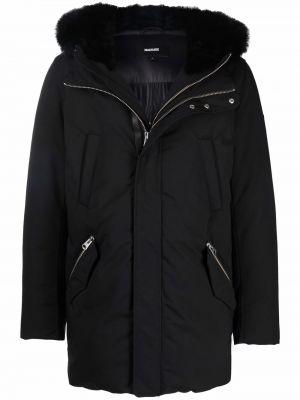 Черная длинная куртка Mackage