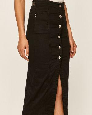 Czarna spódnica midi wełniana zapinane na guziki Patrizia Pepe