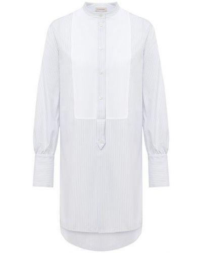Хлопковая белая рубашка с воротником By Malene Birger
