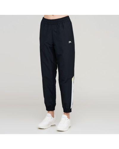 Черные спортивные брюки сетчатые Anta