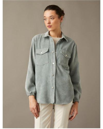 Niebieska koszula sztruksowa Koton