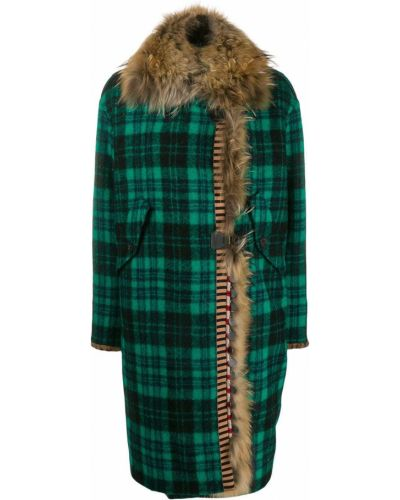Длинное пальто оверсайз зеленое Bazar Deluxe