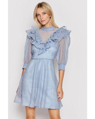 Niebieska sukienka na lato Custommade