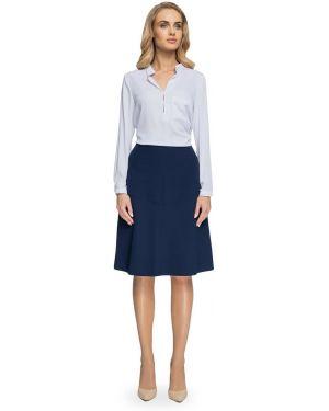 Ażurowa niebieska spódnica maxi z wiskozy Stylove